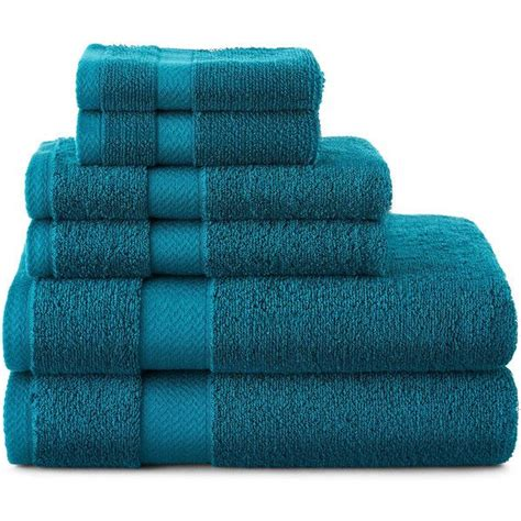 jcpenney home 6 pc bath towel set 42 cad liked on polyvore featuring home bed bath bath