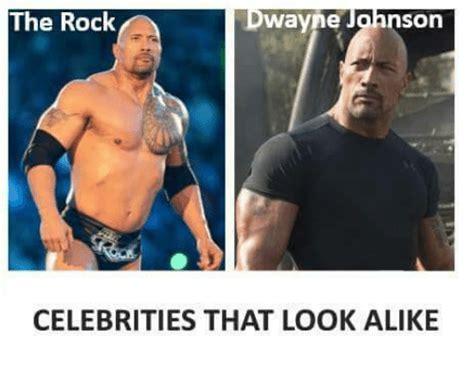 The Rock Meme - the rock wayne son celebrities that look alike the rock meme on sizzle
