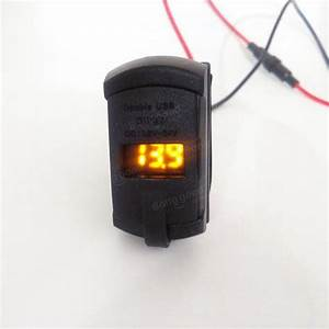 12v 4 2a Dual Usb Charger Led Volt Meter Voltage Meter
