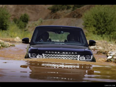 Wading Land Rover Wallpaper by 2013 Range Rover Road In Water Front Wallpaper
