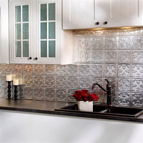home depot kitchen backsplash tiles fasade 24 in x 18 in traditional 10 pvc decorative tile 7075