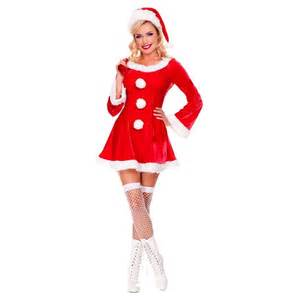 christmas costumes for women adult mrs claus santa outfit fancy dress ebay