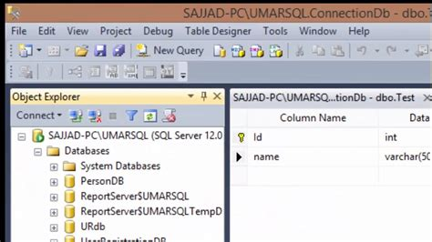 how to connect sql server database with visual studio c youtube