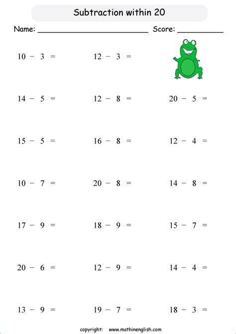 maths worksheets  grade  subtraction awesome worksheet