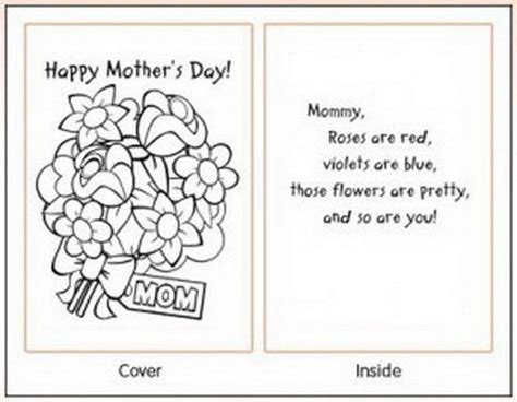 easy printable mothers day cards ideas  kids