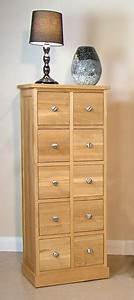 Mobel Oak Cd Multi Storage Chest Of Drawers Mobel Oak