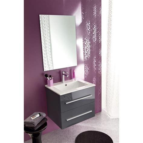 meuble salle de bain isna gris 60 cm