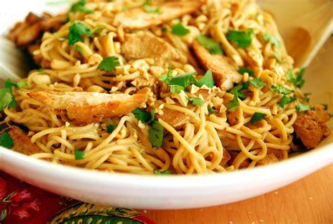 thai noodle recipe chicken peanut thai noodles recipe dishmaps