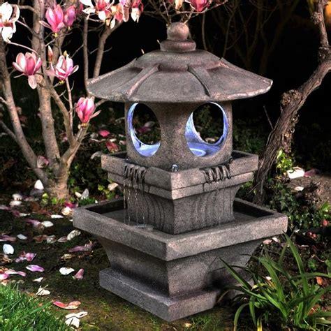 zen lighted outdoor garden water outdoor garden