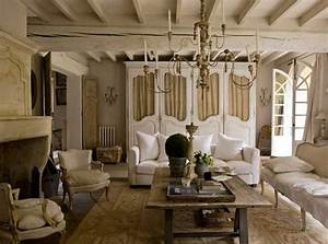 French country living room furniture with white sofa ideas ...