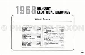1968 Mercury Wiring Diagram Original Marquis Monterey