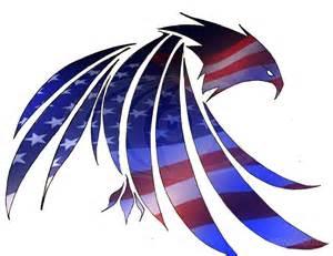 Eagle American Flag Stencil