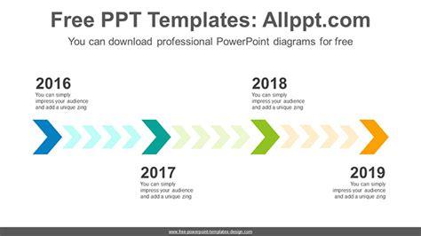 step chevron powerpoint diagram template