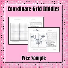Coordinate Grid Riddles Free Sample By Simone Tpt