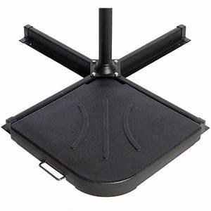 Dalle Parasol Déporté 25 Kg : dalle en b ton couleur noire fixation parasol d port ~ Melissatoandfro.com Idées de Décoration
