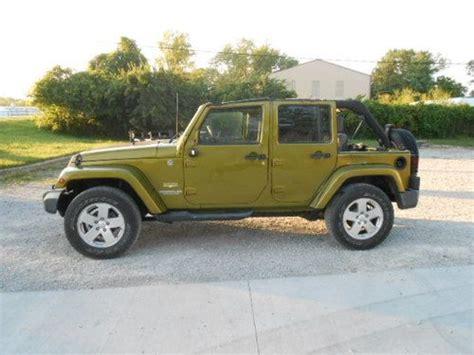 wrecked jeep purchase used 2007 jeep wrangler sahara 4 door 4x4 6 speed