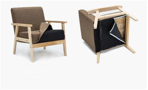 Single Fabric Japanese Style Wooden Chair Colored Wood