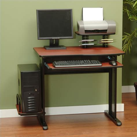 black wood computer desk studio rta network wood black cherry computer desk ebay