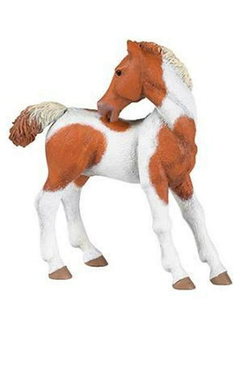 papo pinto foal horse barn farm animal toy figure pretend