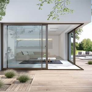 Porte Coulissante Angle Droit : fen tre et baie vitr e aluminium aluside franciaflex ~ Melissatoandfro.com Idées de Décoration