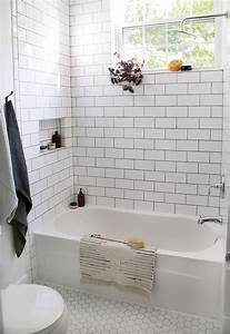 top best small white bathrooms ideas on pinterest With popular materials of white tile bathroom