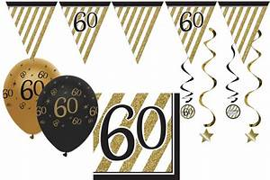 Deko Zum 60 Geburtstag : 34 teile dekorations set zum 60 geburtstag oder jubil um party deko in schwarz gold ~ Orissabook.com Haus und Dekorationen