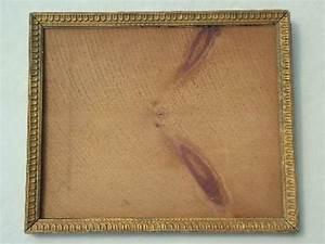 antique gold wood picture frame, original plank back frame ...