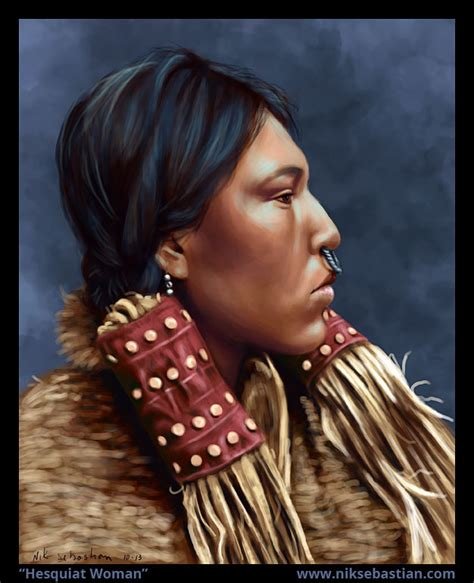native american hesquiat woman painting nik sebastian