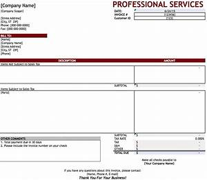 free professional services invoice template excel pdf With professional services invoice example