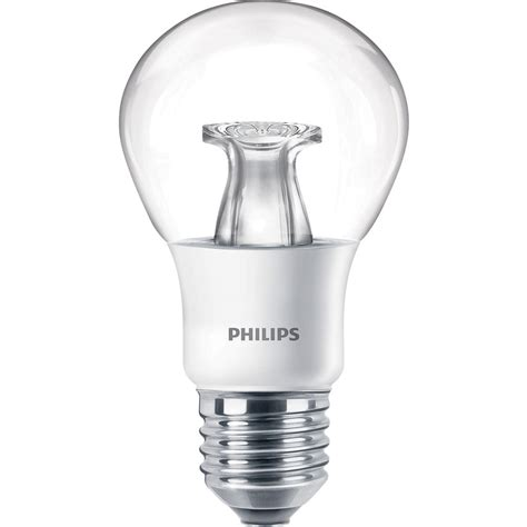 philips led warm glow dimmable a shape l 6w es e27