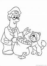 Mailman Postman Coloring Pat Crafts Books Preschool Printable Colouring Cartoon Bajka sketch template
