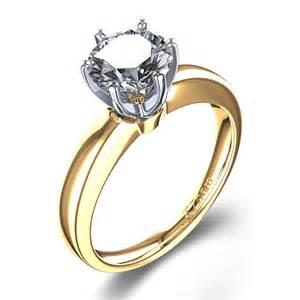14k yellow gold engagement rings modern venus six prong engagement ring in 14k white gold
