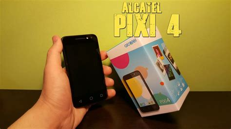 alcatel pixi 4 unboxing review camera test youtube