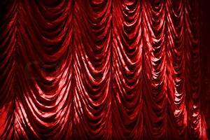 Illuminated red curtain background texture stock photo for Red curtain background vintage