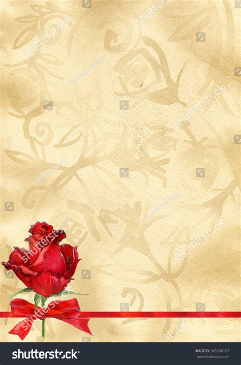 paper background roses love letters stock illustration