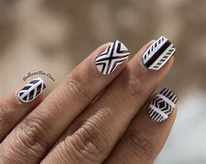 black and white nail designs 2013Bellezza Bee Black White ...