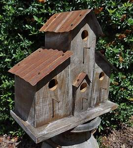 Barn Birdhouse, Rustic Birdhouse, Old West Bird House
