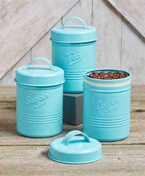 country kitchen canisters 3 pc vintage metal canister set country kitchen containers 3601