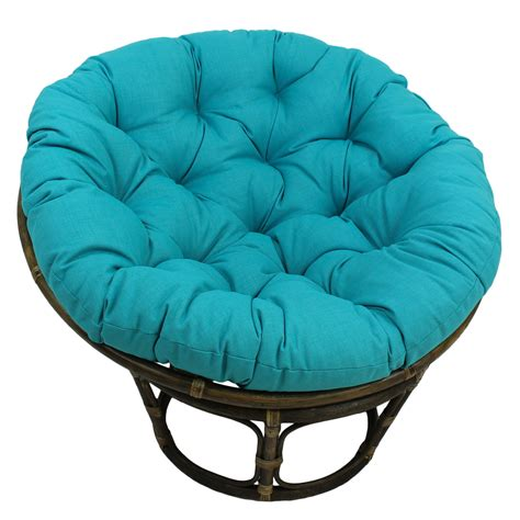 bungalow benahid outdoor rattan papasan chair with cushion reviews wayfair