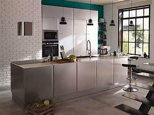 cuisine ouverte mordore et blanc subway inox castorama With palette couleur peinture mur 14 amenagement optimise et deco pour ma cuisine ouverte