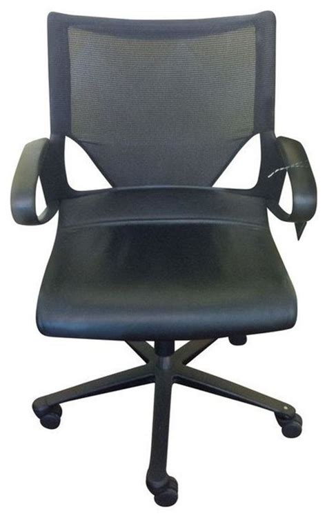 pre owned swivel wilkhahn leather mesh office chair