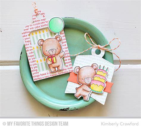 love  paper birthday bear tags