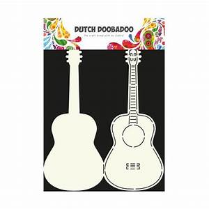 guitar cut out template - dutch doobadoo card art template guitar