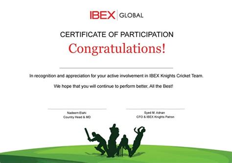 participation certificates examples samples examples