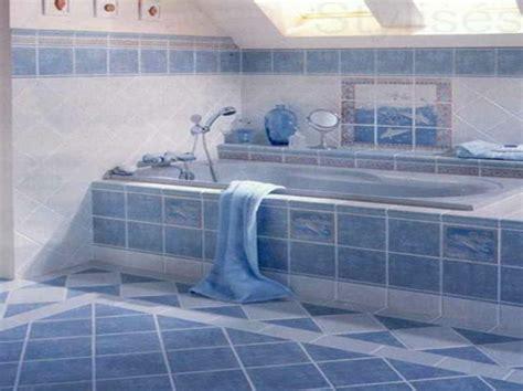bathroom tiles design 20 beispiele für blaue bodenfliesen im badezimmer