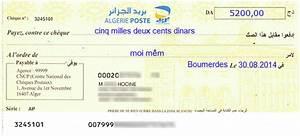 Chèque De Banque La Poste : comment remplir un ch que ccp d 39 alg rie poste ~ Medecine-chirurgie-esthetiques.com Avis de Voitures