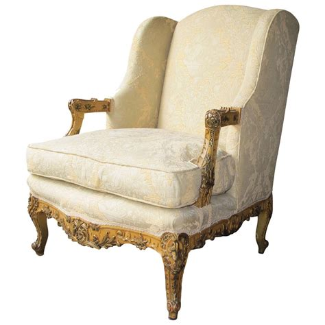 beautiful louis xiv style bergere chair at 1stdibs