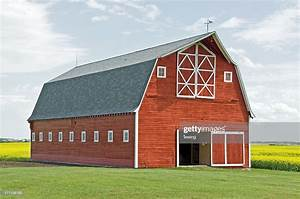 Stunning Red Barn Closeup High-res Stock Photo