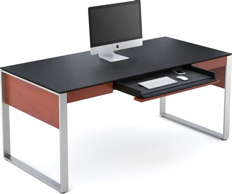bdi sequel 6021 natural stained cherry executive desk at