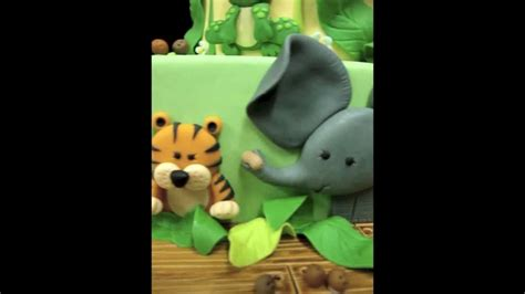 Country Themed Baby Shower by Jungle Animal Theme Baby Shower Cake Youtube